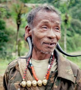 North East India Tribal Man From Konyak Tribe