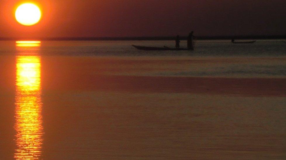 sunset, assam , india, river