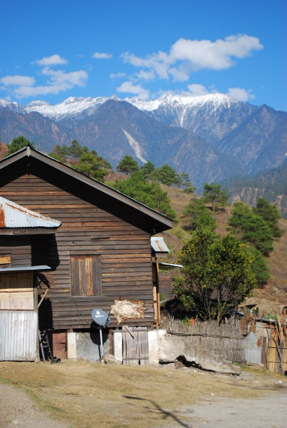 At the town of Walong, the very east of the Eastern Himalayas.