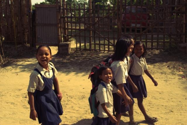majuli assam island brahmaputra india children northeast india