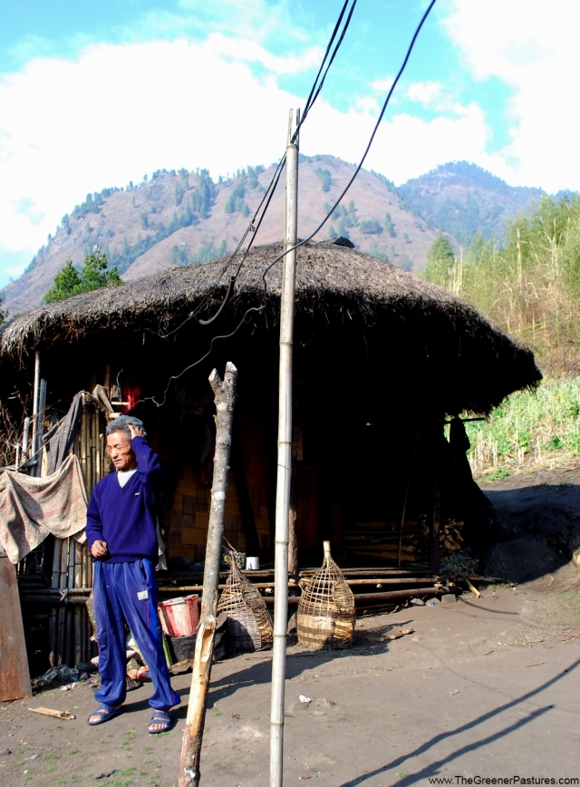 mishmi tribal man- anini arunachal pradesh dibang district- sunny winter day