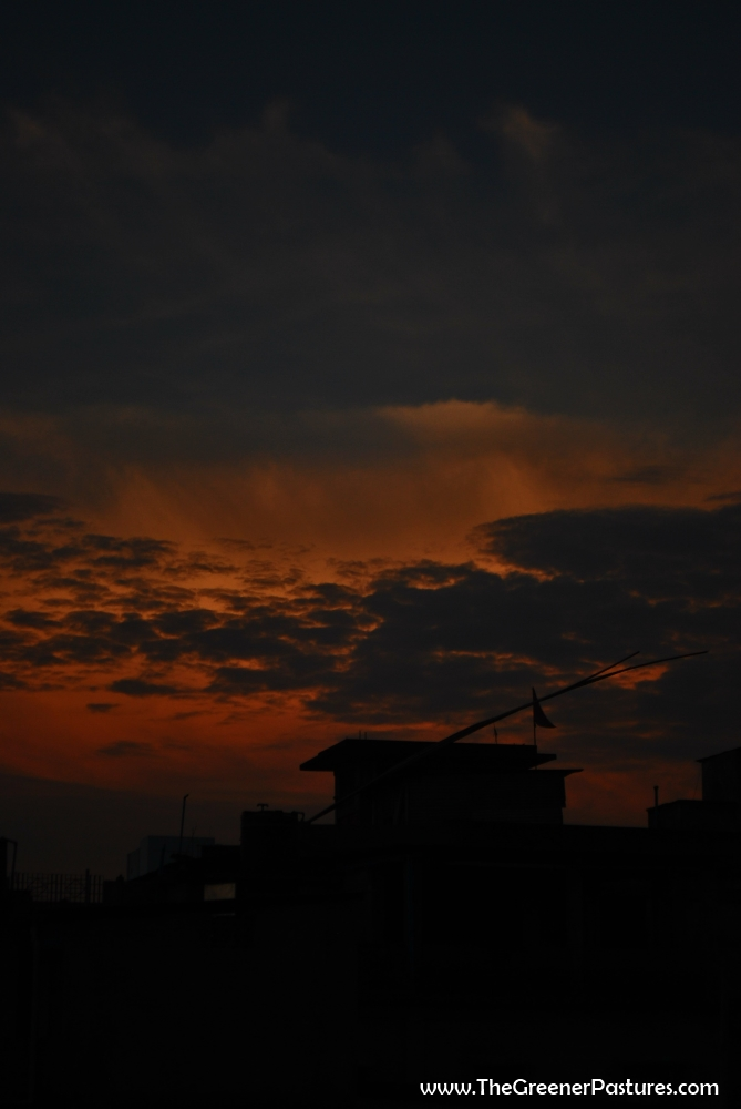 Evening sky in Dibrugarh, Assam