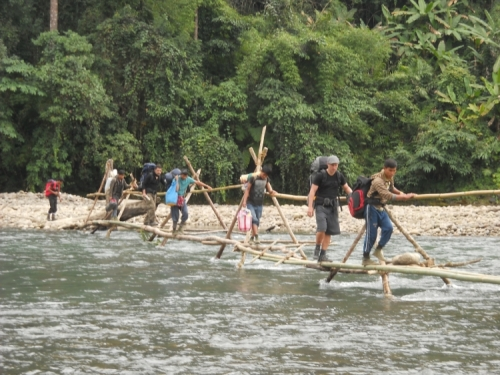 namdapha national park trek - bridge crossing