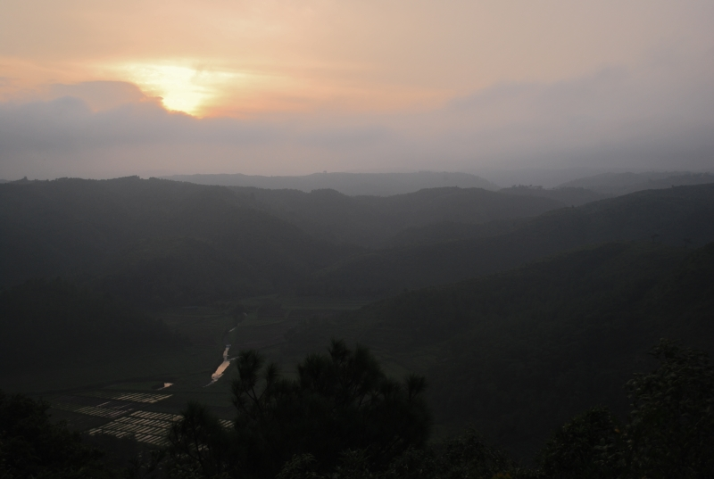 Landscape on the way towards Mawlynnong.