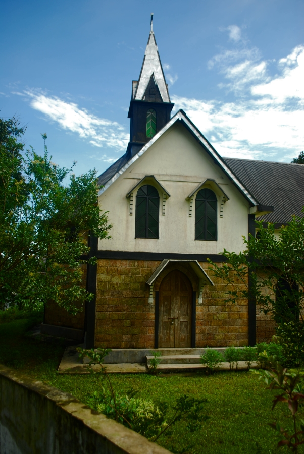 The village church at Mawlynnong.