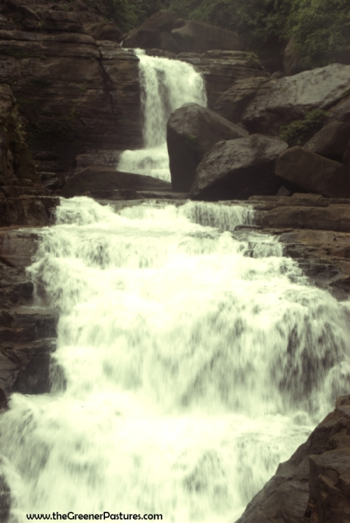 Waterfall near Mawlynnong in Meghalaya