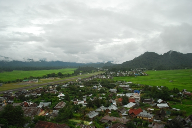 Old Ziro with the abandoned airstrip