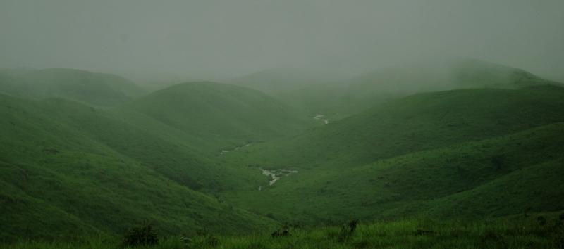 Rolling grasslands of Cherrapunji