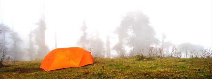 Campsite during the 'Bailey Trail'