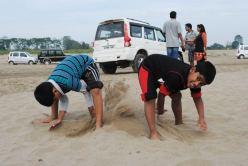 Sandcastle destruction