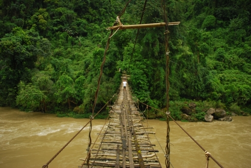 Hanging bridge over the Subansiri River