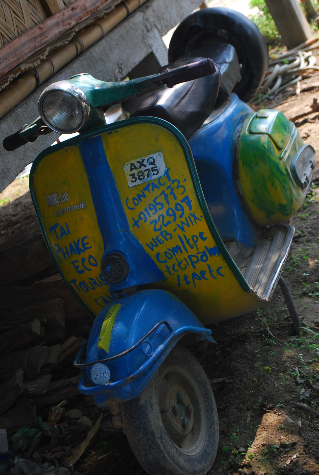 Old Scooter at Tai-Phake Camp, Assam