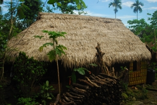 Typical hut of War-Khasi Tribe.