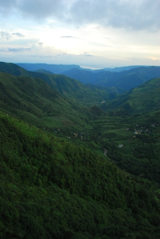 Khasi Hills infected with monsoon greenery.