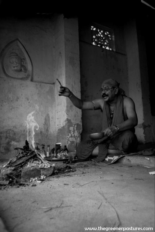 Sadhu at Ambubahi Mela awakening the spirits - Guwahati, Assam