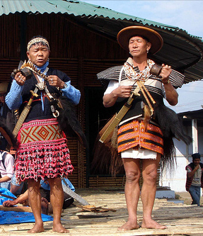 Idu Mishmi man and woman in their traditional attires.