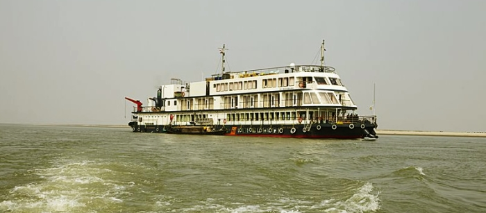 The cruise passing through eastern Assam.