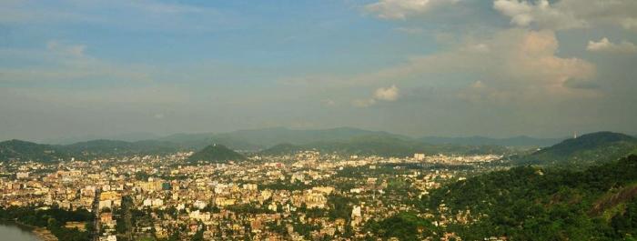 A panoramic view of Guwahati City.