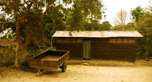 Sustainable houses at Majuli Island. The residents here are as much lovely.
