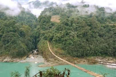 Adi Tribe Cane Bamboo Bridge, Arunachal Pradesh