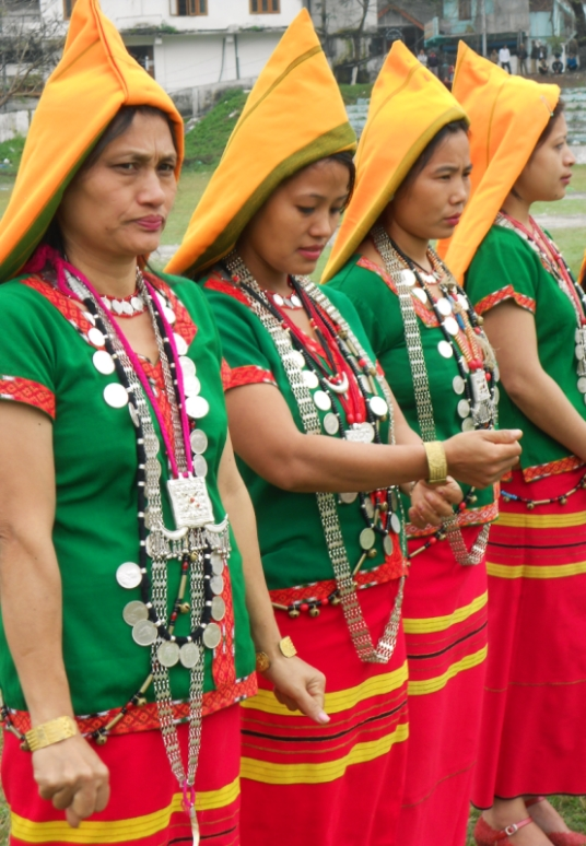 Adi Women in Traditional Tribal Attire During Festival