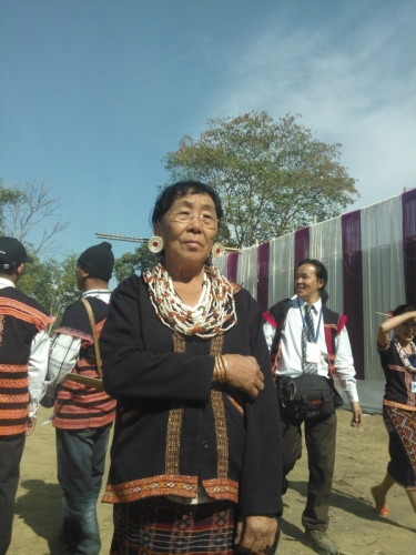 Old traditional lady Mishmi Tribe during Reh festival