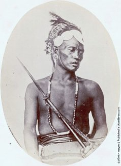A Rengma man from the Naga hill tribes in Assam, India, circa 1868 Photo by Hulton ArchiveGetty Images