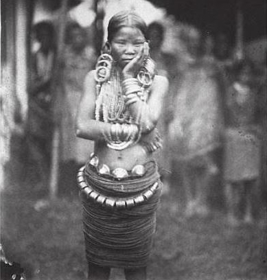 chief's daughter Adi Tribe Vintage Arunachal Pradesh