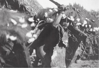 Warriors of Adi Tribe. Year: 1940s John Howard Williams