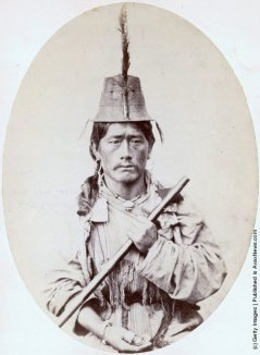 An aboriginal man from the Lepcha people of Sikhim (Sikkim), India, circa 1868