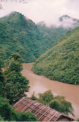 Site of construction of Tipaimukh Dam.