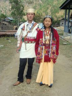 Newly wed couple from Bagun Tribe, Arunachal Pradesh