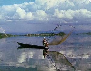 Fisherman at Loktak Lake, Manipur