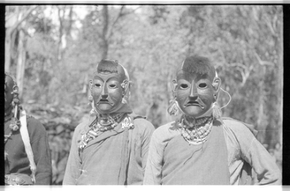 Sherdukpen Dancers in Mask, Vintage