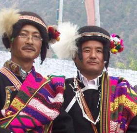 Sherdukpen Men in Traditional Attire