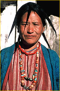 Portrait of Monpa Woman, Arunachal Pradesh