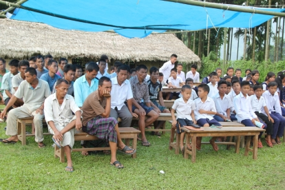 Villagers and children of M'pen Village who participated in World Tourism Day 2015