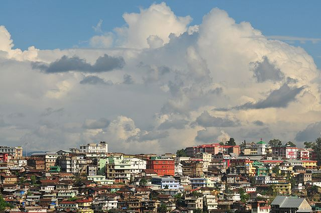 Buildings soar high in this dramatic landscape of Kohima, the capital of Nagaland.