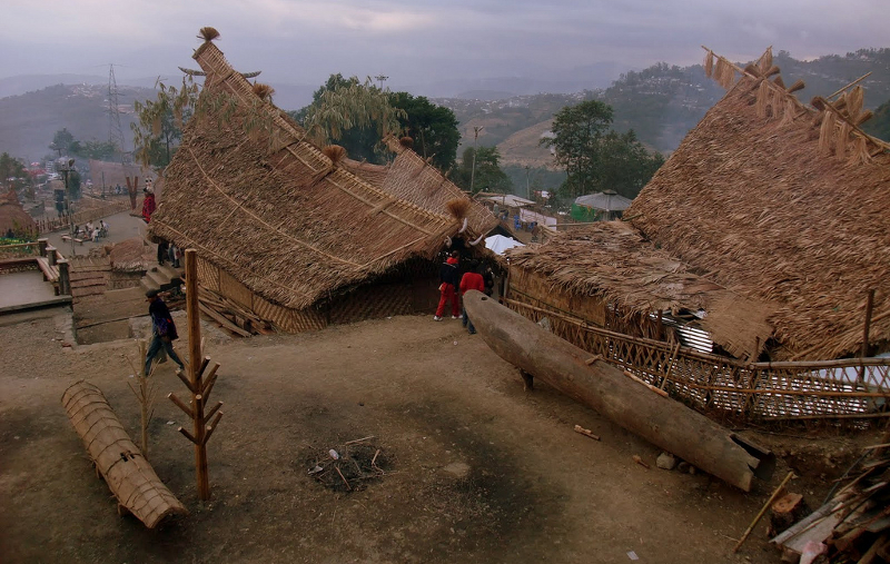 Traditional Huts at Kisama Heritage Village, Kohima, Nagaland