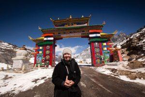 Tourist at Sela Pass, Tawang, Arunachal Pradesh
