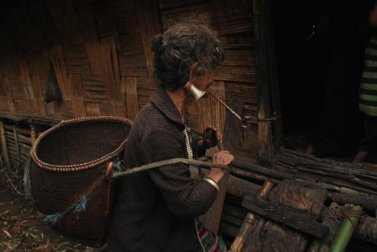 Portrait of a Mishmi Tribal Old Woman, Lohit Valley, Arunachal Pradesh Trek