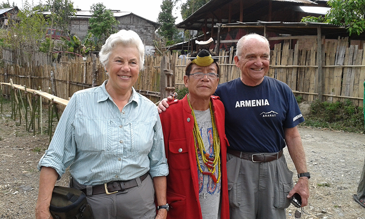 Tourists enjoying cultural tour in Ziro, Arunachal Pradesh
