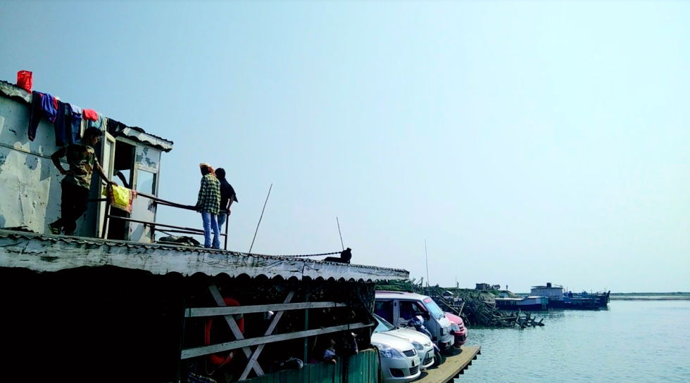 Ferry your car across the Brahmaputra River to Majuli Island