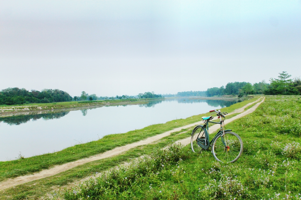 Cycling and Travel in Majuli Island, Assam, India