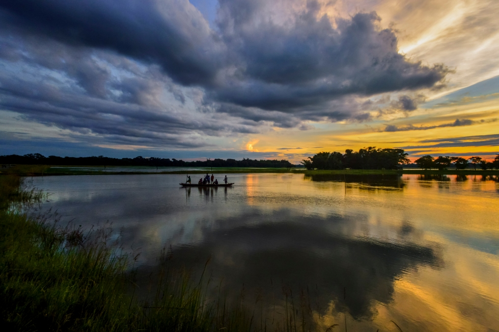 Brahmaputra River - A spectacular sunset